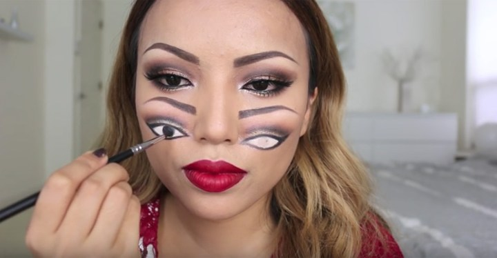 """Halloween """"Double Vision"""" Makeup Tutorial by Promise."""