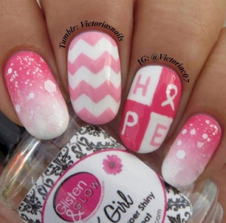 19 Breast Cancer Nails - Choose Hope.