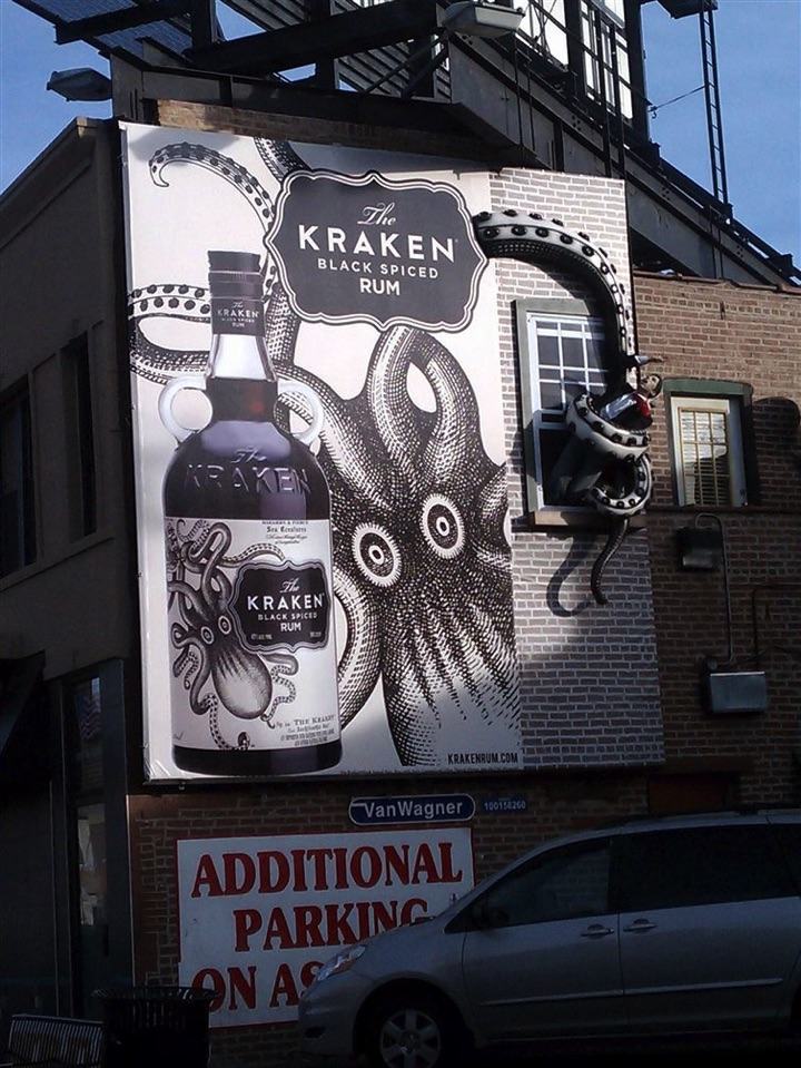 21 Creative Billboard Ads - An innovative ad that also uses physical props.