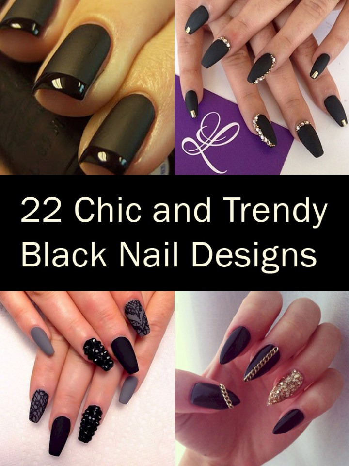 22 Elegant Black Nail Designs That Look Edgy and Chic. #10 Looks Stunning.