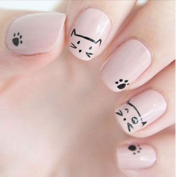 15 Cat Nail Art Manicures Cats Winking Too Cute