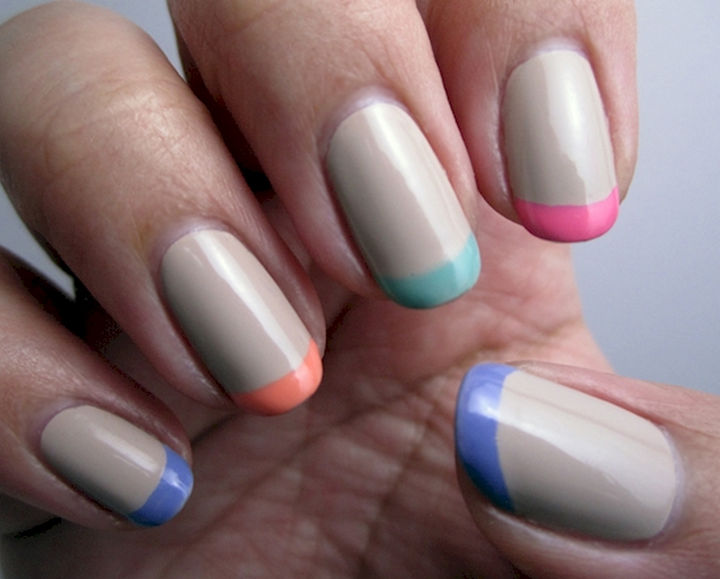 17 French Nails With a Twist - Express it with French pastels.