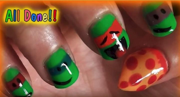 18 Saturday Morning Cartoon Nails - The infamous heroes in a half shell, The Teenage Mutant Ninja Turtles!