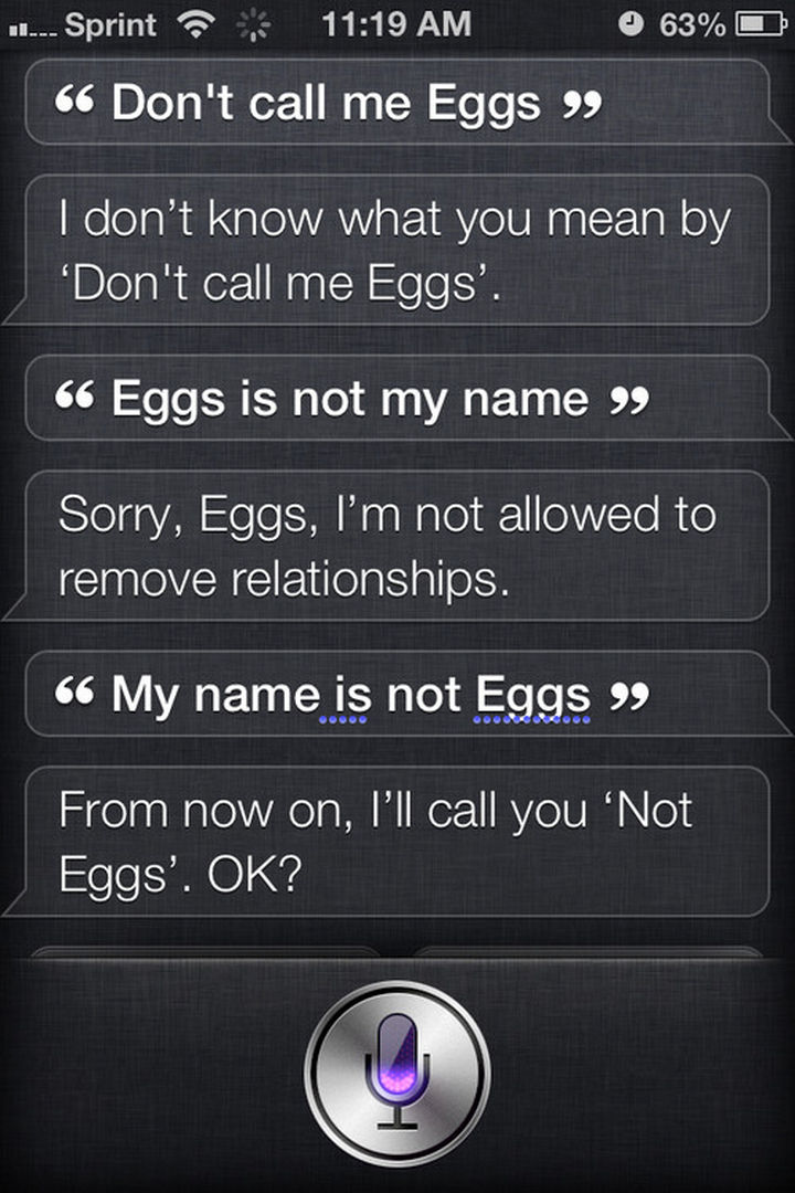 Well played, Siri. Well played.