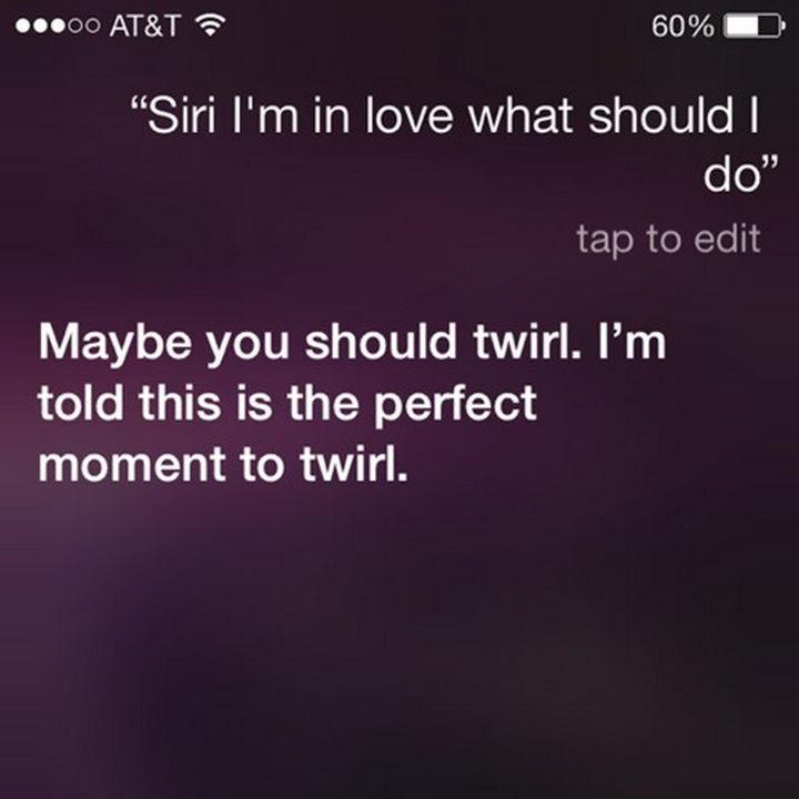 Good advice from Siri.