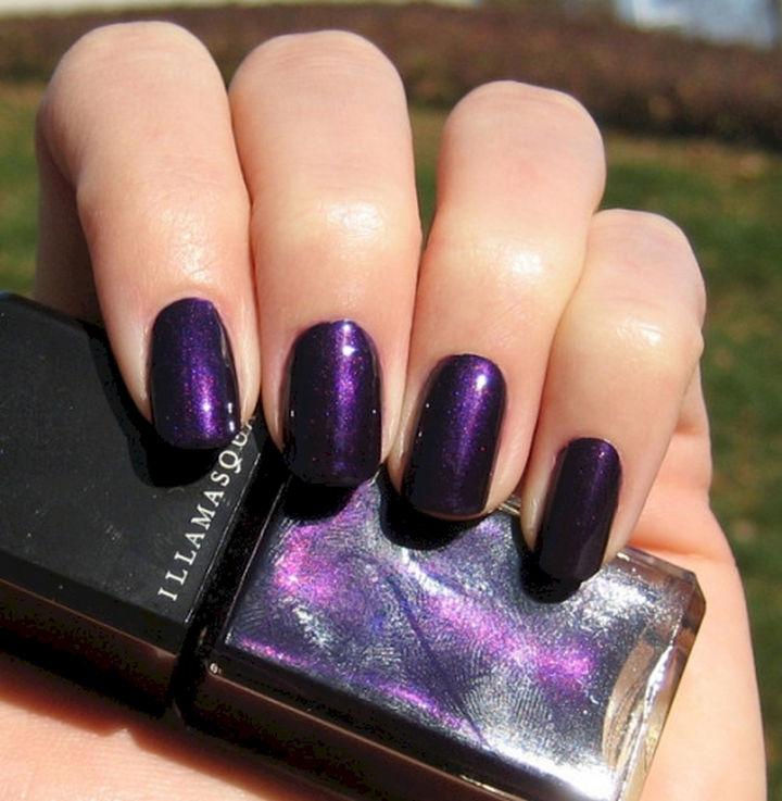 22 Purple Nail Designs - Dark rich color.