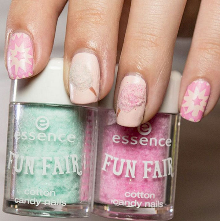 17 Cotton Candy Nails - Candylicious nails.
