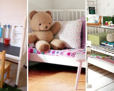 19 Upcycled Furniture Ideas Made with Baby Cribs.