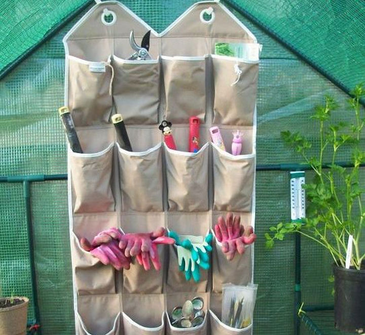 21 Clever Shoe Organizer Ideas - No more lost tools with this outdoor organizer.