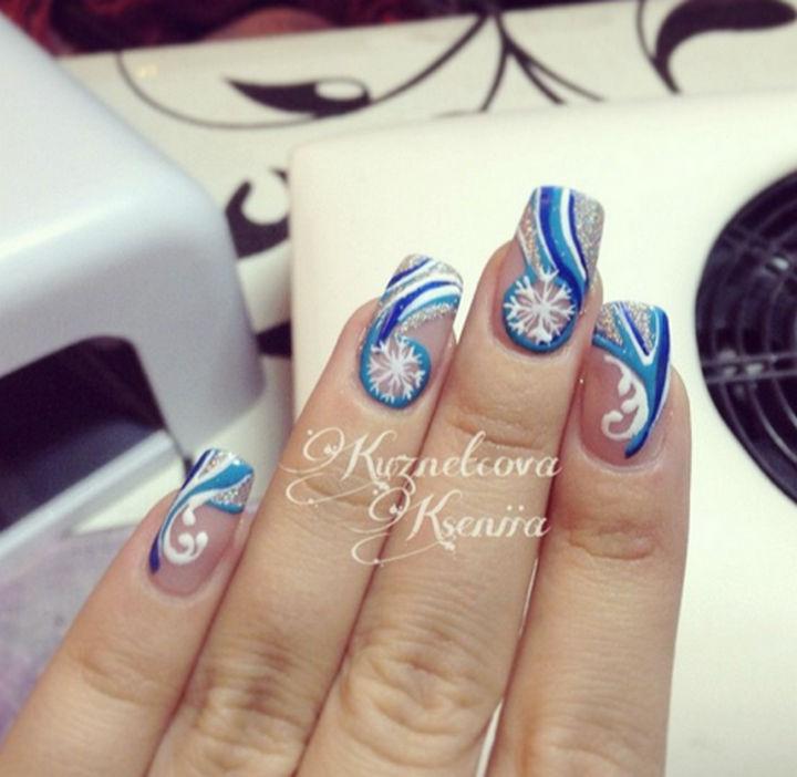 39 Winter Nails - Winter storm nails.