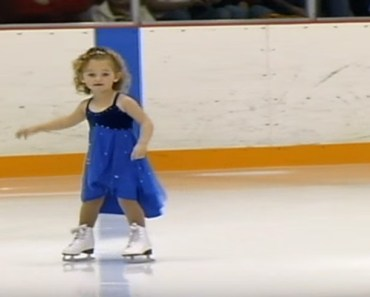 3-Year-Old Skates in Her First Competition and It's Adorable.