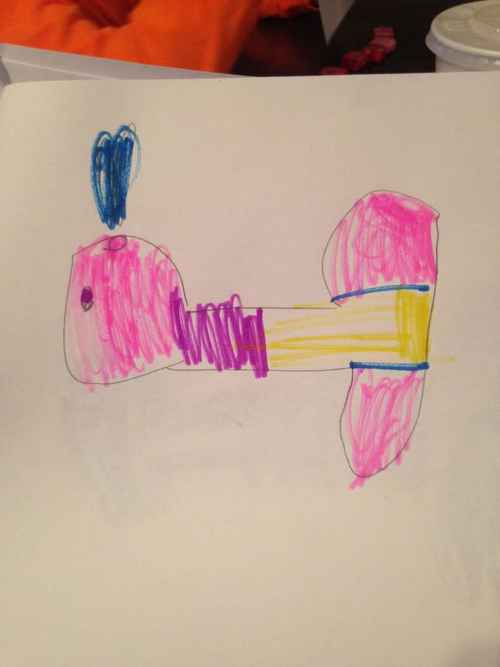 35 Funny Drawings from Kids - Get your mind out of the gutter...it's a whale.