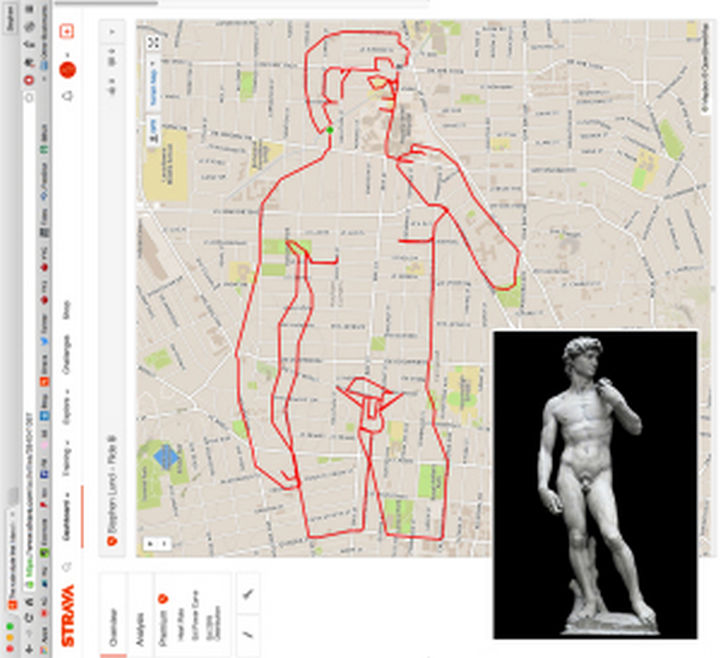 Sketchbook of a GPS Arist - Michelangelo's Renaissance masterpiece...the statue of David.