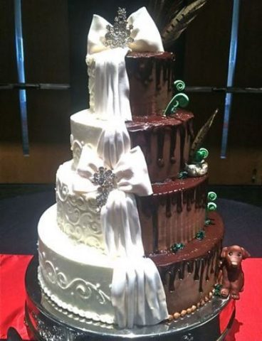 12 Creative Wedding Cake Ideas for the Bride and Groom 12 Him and Her Wedding Cake Ideas   Gorgeous white bows brings these wedding  cake ideas