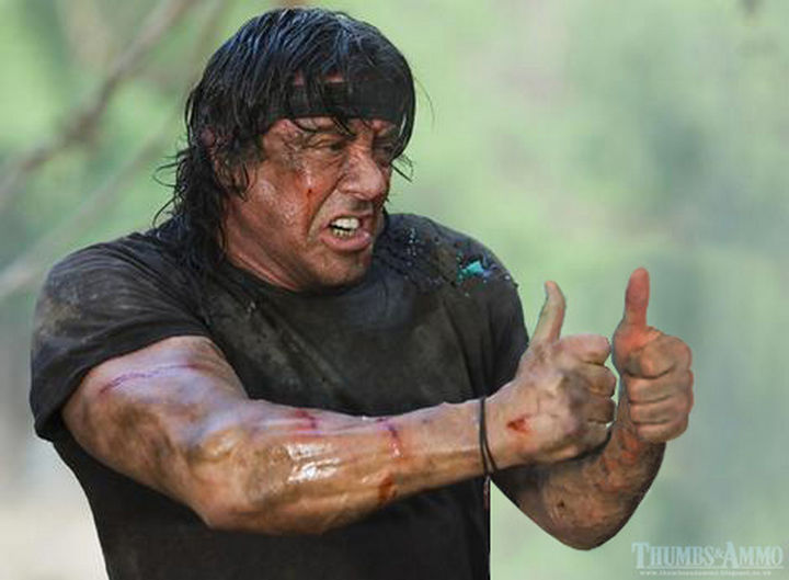 23 Movie Action Scenes Where Guns Were Replaced with a Thumbs-Up - 'Rambo'