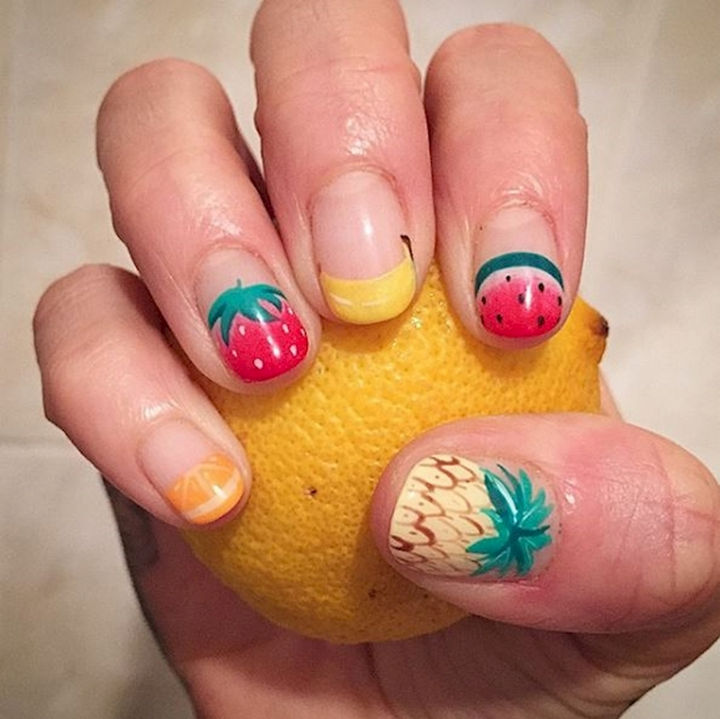 17 Fruit Nails - Tropical fruit nails that look so fresh!