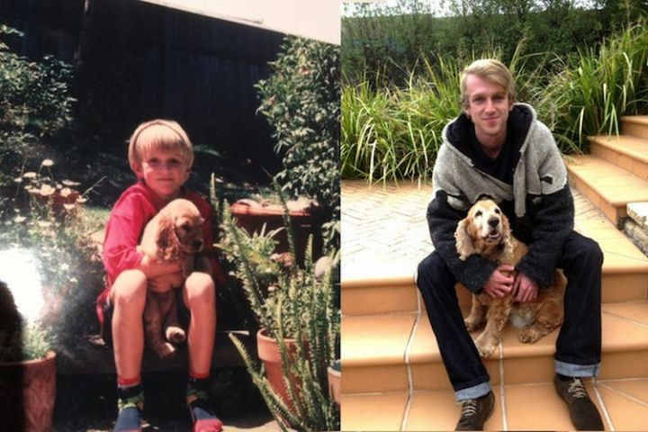 23 Then Now Photos - Growing up with his best friend.