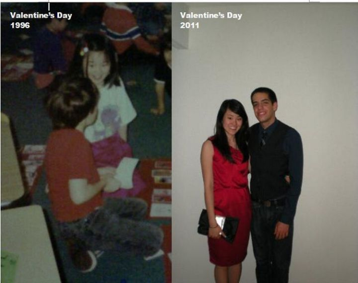 23 Then Now Photos - His childhood crush has turned into love.