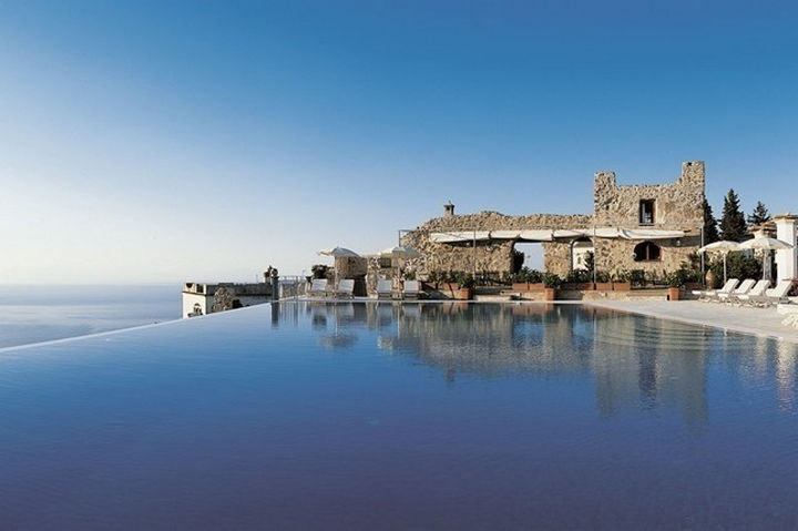35 Epic Swimming Pools From Around the World - Hotel Caruso on Italy's Amalfi Coast.