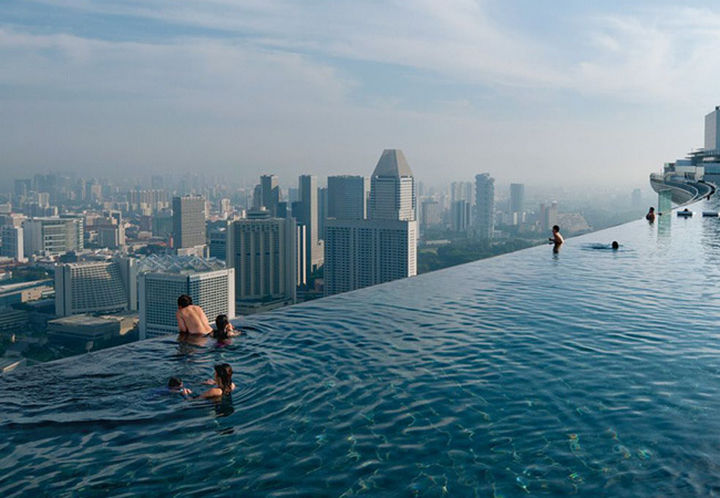 35 Epic Swimming Pools From Around the World - Marina Bay Sands Resort in Singapore.
