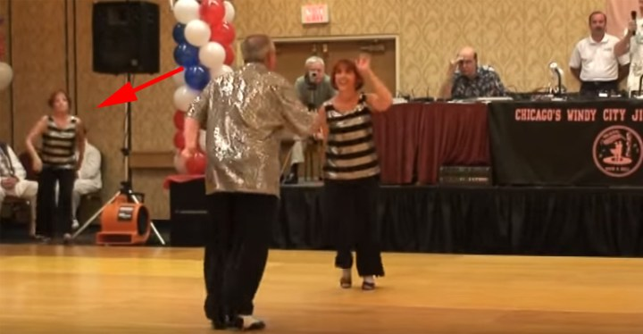 Jitterbug Dance Demonstration by Gary, Charlotte, and Debbie.