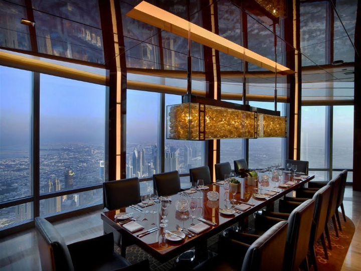39 Amazing Restaurants With a View - at.mosphere in Dubai, United Arab Emirates.