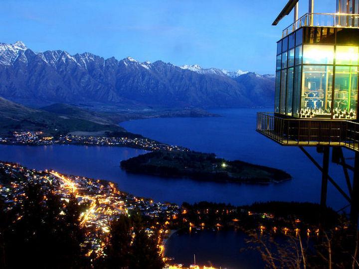 39 Amazing Restaurants With a View - Skyline Restaurant in Queenstown, New Zealand.