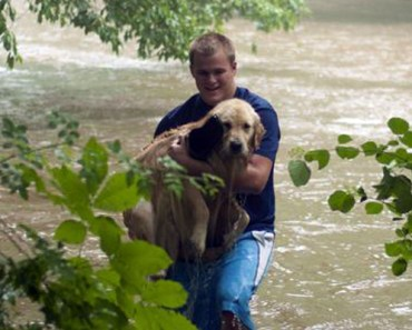 Hikers Risk Their Lives to Save a Puppy from Drowning.