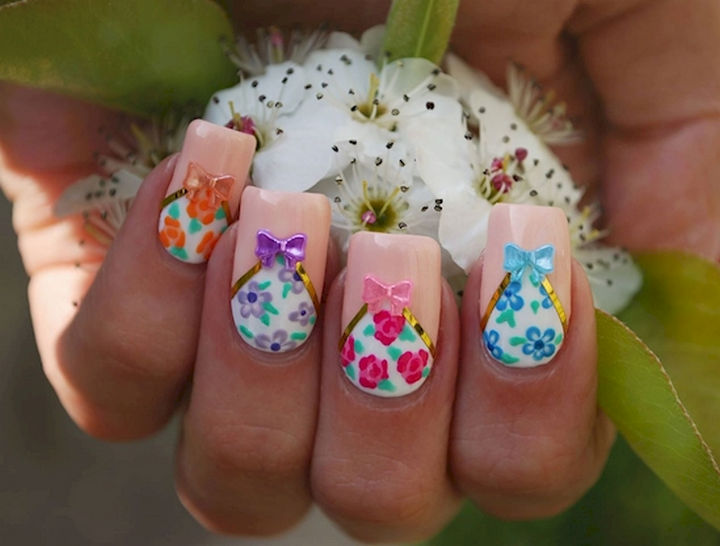 17 Bow Nail Art Designs - This bow nail art design is beyond spectacular.