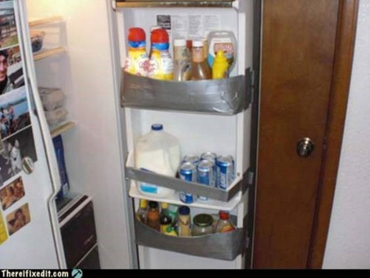 """20 Hilarious Ways Men Can Fix Anything - """"The refrigerator door is broken? I can fix that!"""""""
