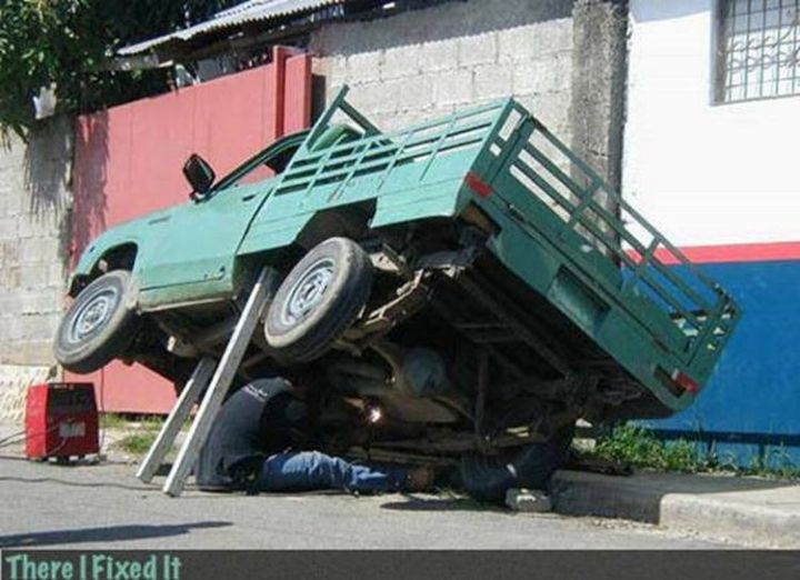 """20 Hilarious Ways Men Can Fix Anything - """"Need car repairs? I can fix that!"""""""