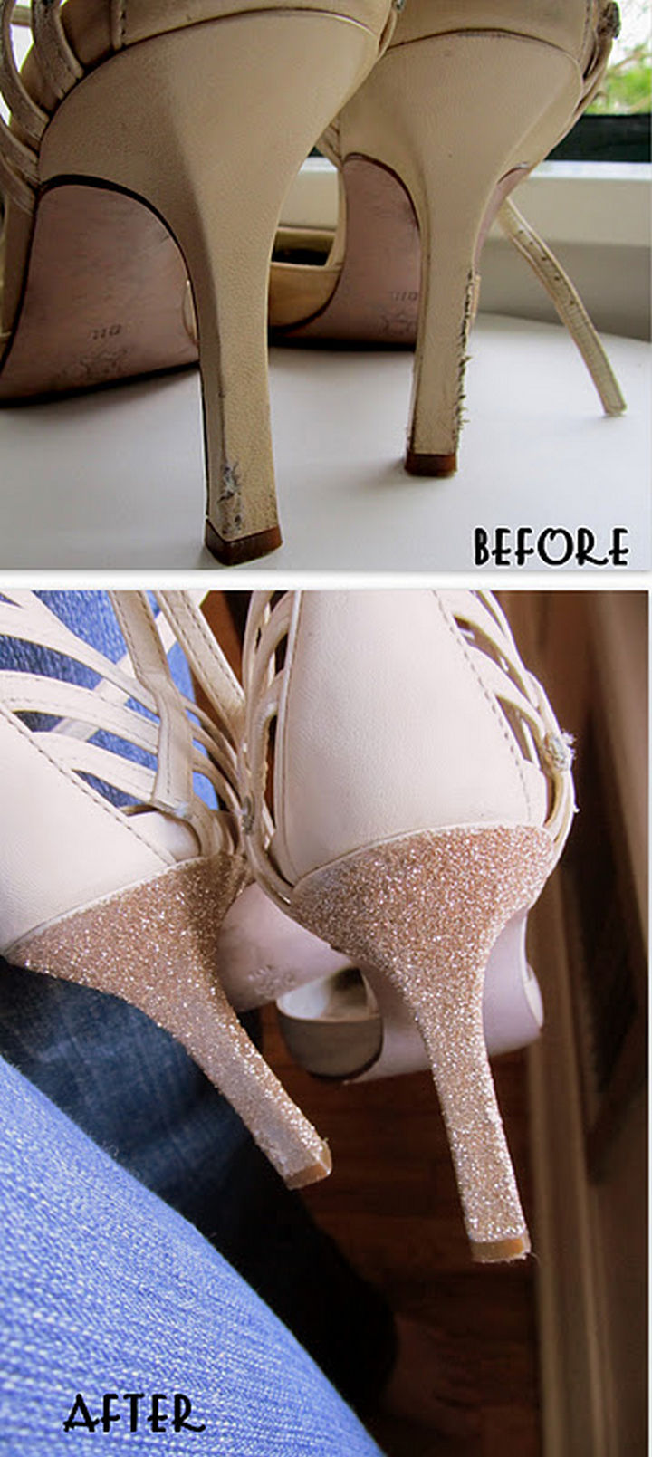 22 Kickass Life Hacks for Girls - Give worn heels a new look.