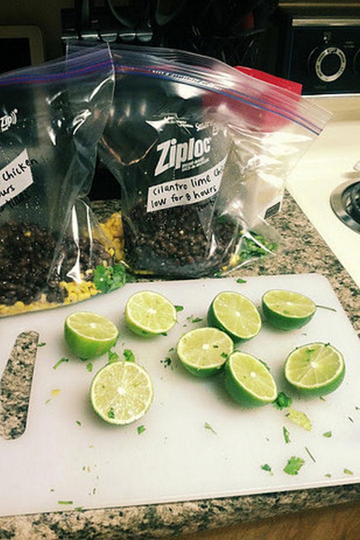 26 Crock Pot Dump Meals - Cilantro lime chicken