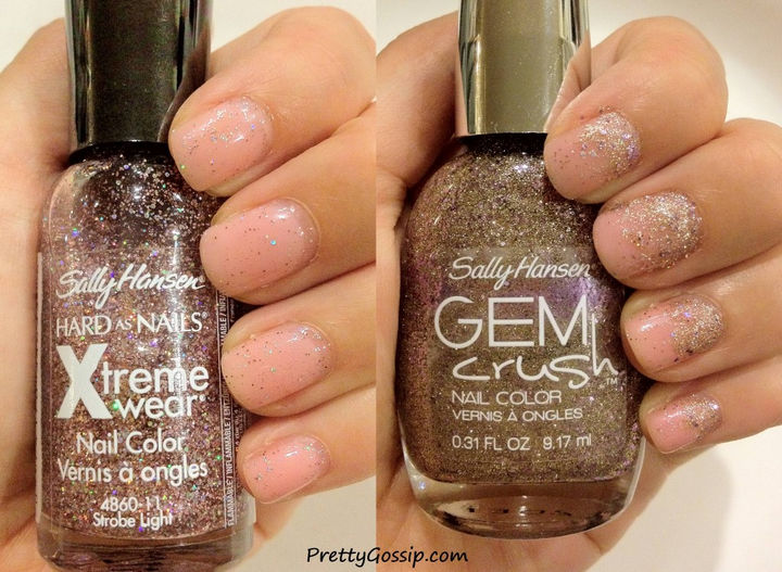 13 Quick and Easy Ways to Save a Chipped Manicure - Glitter polishes also hides grown out gel manicures.
