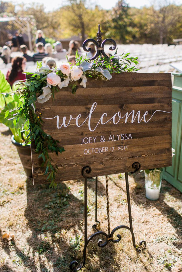 18 Wedding Signs That Are So Perfect - Welcome to our wedding.