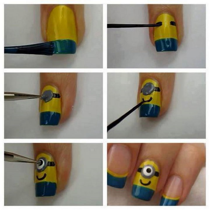 19 Minion Nails - Fun minion nails.