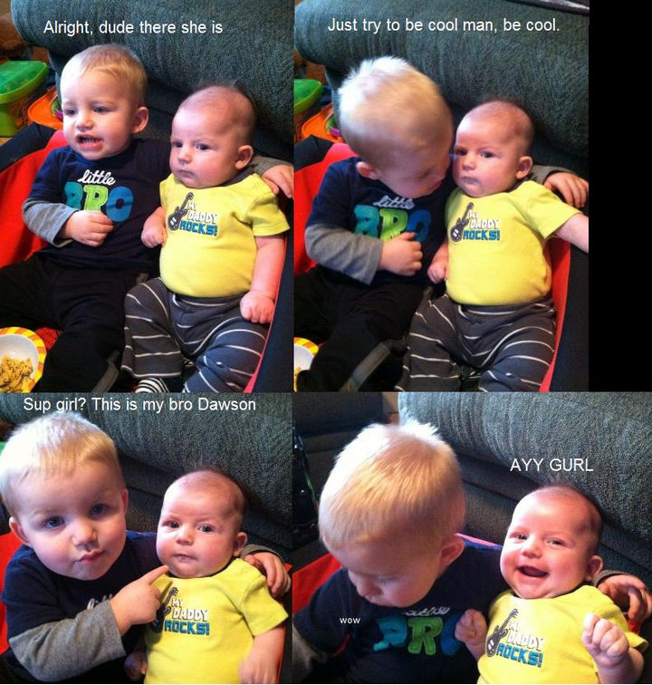 19 Photos of Growing Up With Siblings - They can be the best wingman ever.