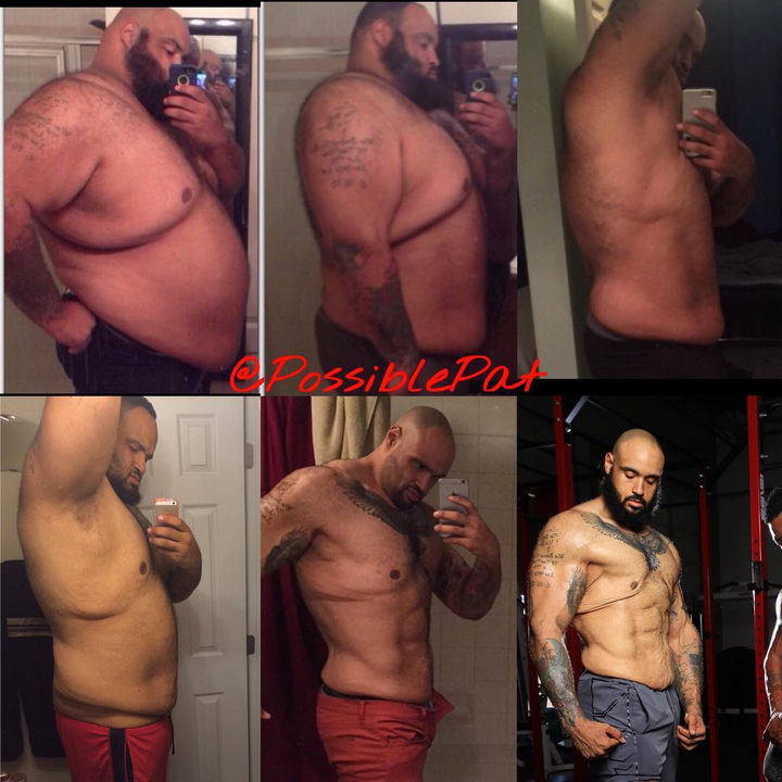 Keeping track of weight loss is one step to staying motivated and Pasquale Brocco took photos of his progress over time. The results speak for themselves.