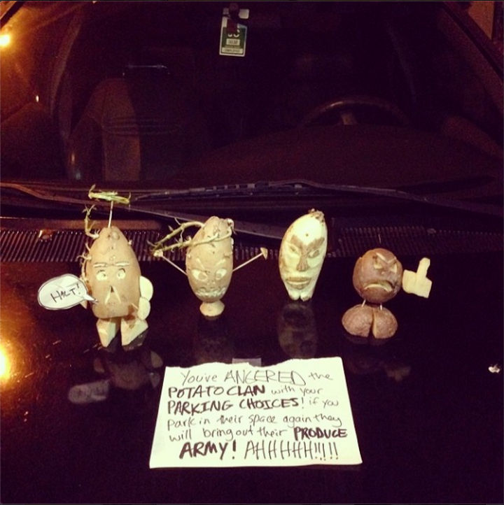 19 Bad Parking Fails - He got a warning from the potato clan.