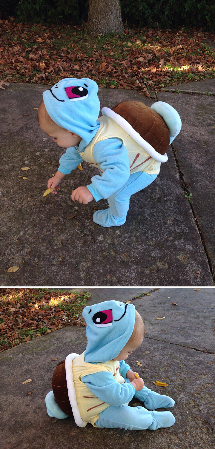 20 Pokémon Costumes for Halloween - Toddler Squirtle costume.