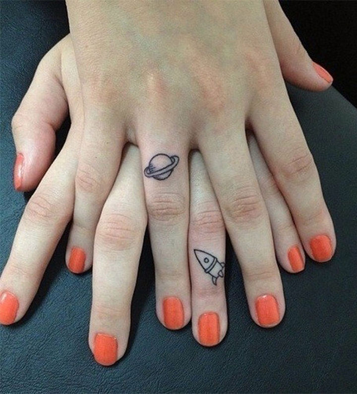 28 Sister Tattoos - A sisterly bond that is out of this world.