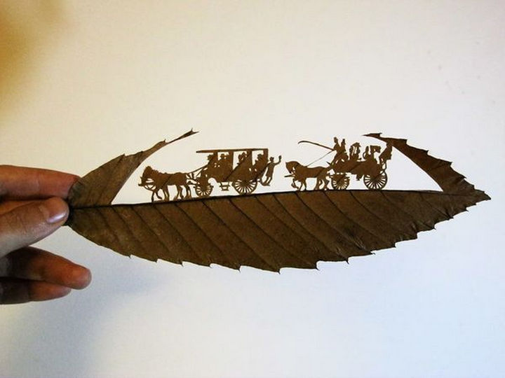 A beautiful carving that brings life to a carriage.