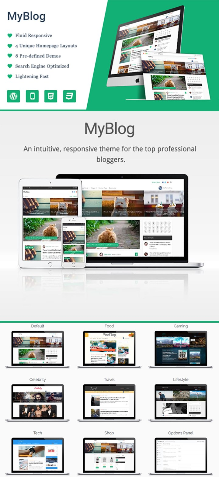 Installing a WordPress Theme - MyBlog by MyThemeShop