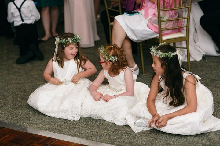 She considers every student in her class a true friend and invited them to be in her wedding party.