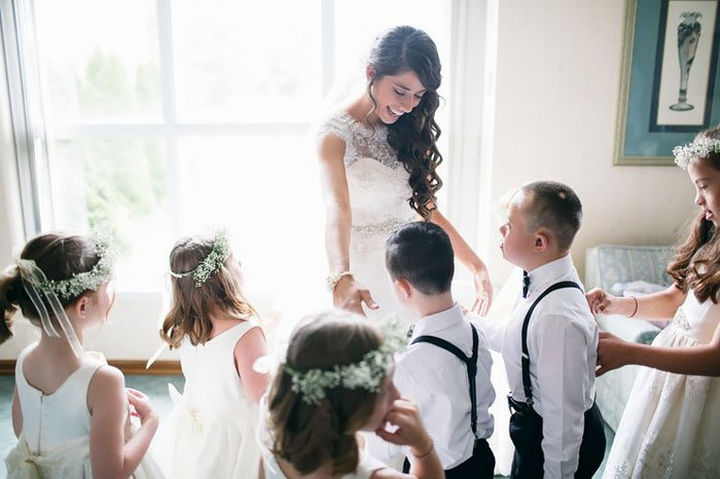 The students of Kinsey French couldn't be happier to be flower girls and ring bearers.