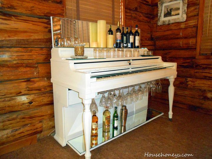18 DIY Bars and Bar Carts - Piano bar.