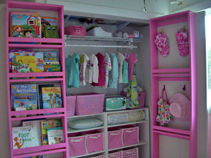 18 DIY Storage Ideas For Your Home - Add shelving behind your closet door for added space.