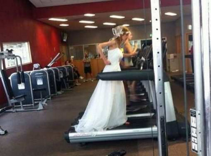 When your wedding dress is just a little too tight.