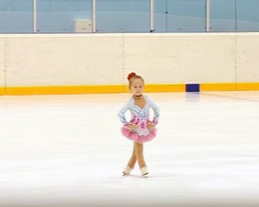 Tiny 3-Year-Old Russian Skater Impresses Everyone.