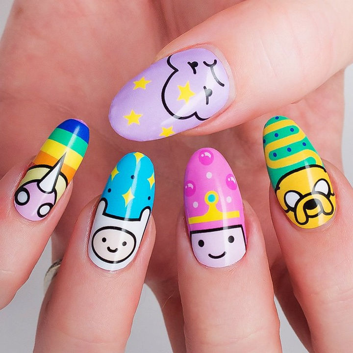 19 Cartoon Nails - What time is it? Adventure Time!